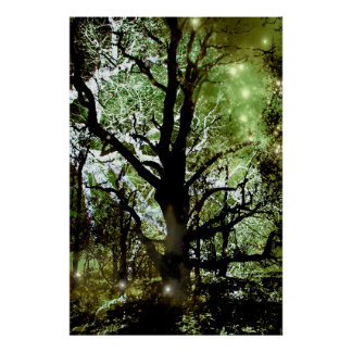 El árbol de hadas póster