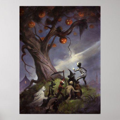 El árbol de Halloween Póster