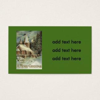El árbol de hoja perenne de la iglesia protagoniza tarjeta de negocios