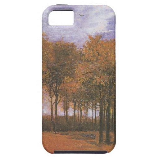El árbol de la caída del otoño de Van Gogh sale de iPhone 5 Case-Mate Cobertura
