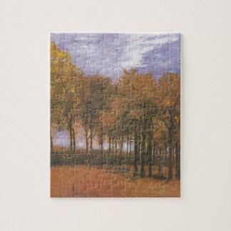 El árbol de la caída del otoño de Van Gogh sale de Rompecabeza
