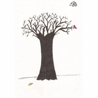 El árbol de la caída fotoescultura vertical