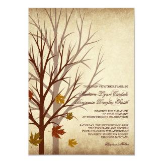 """El árbol de la caída siluetea invitaciones del invitación 4.5"""" x 6.25"""""""