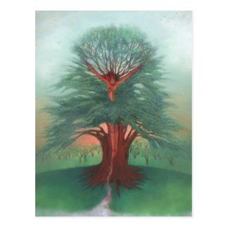 El árbol de la cura tarjeta postal