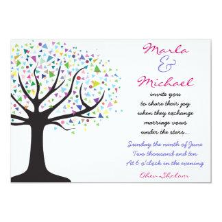 El árbol de la invitación del boda de la vida