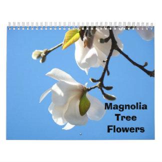 El árbol de la magnolia florece calendarios de la