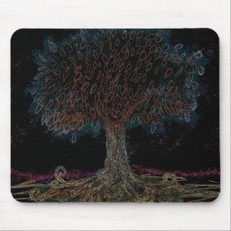 El árbol de la noche alfombrillas de raton