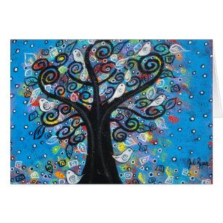 El árbol de la paz tarjeta pequeña