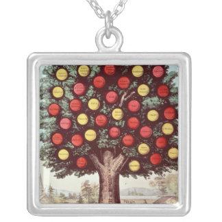 El árbol de la templanza, 1872 collar plateado