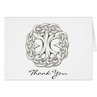 El árbol de la vida céltico le agradece tarjeta pequeña