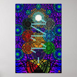 El árbol de la vida de Metatron Posters