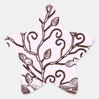 El árbol de la vida impresionante sale de diseño pegatina en forma de estrella