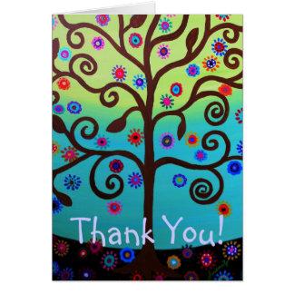 El árbol de la vida le agradece cardar tarjeta pequeña