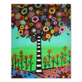 El árbol de la vida mexicano florece la pintura cojinete