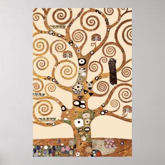 El árbol de la vida por el klimt de Gustavo Póster