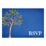 El árbol de la vida remolina barra azul Mitzvah Comunicados Personales
