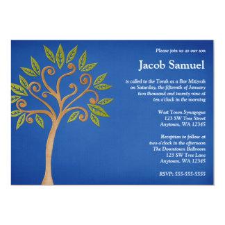 El árbol de la vida remolina las invitaciones invitación 12,7 x 17,8 cm