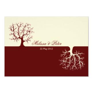 El árbol de la vida Yin-Yang que casa la Invitacion Personal