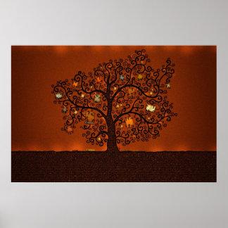 El árbol de libros póster