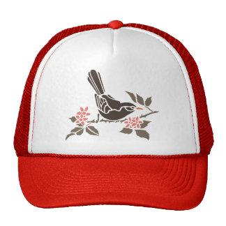 El árbol de los pájaros del pájaro florece el anim gorros bordados