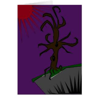 el árbol de medianoche tarjeta pequeña