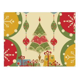 El árbol de navidad adorna día de fiesta de los pr tarjeta postal