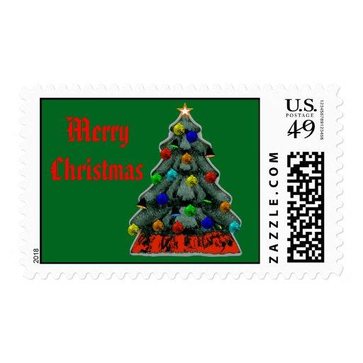 El árbol de navidad adornó el regalo de Zazzle del