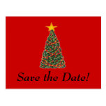 ¡El árbol de navidad, ahorra la fecha! Tarjeta Postal
