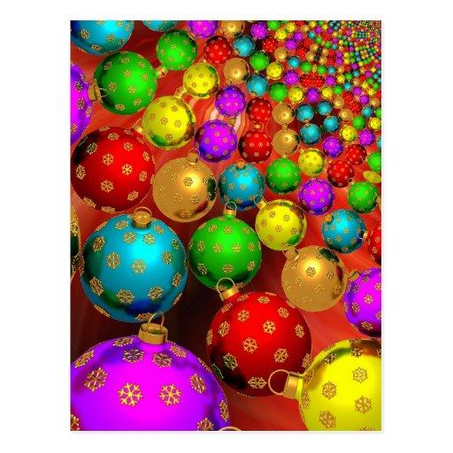 El árbol de navidad colorido del día de fiesta ado tarjetas postales