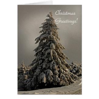 El árbol de navidad de la naturaleza - tarjeta de