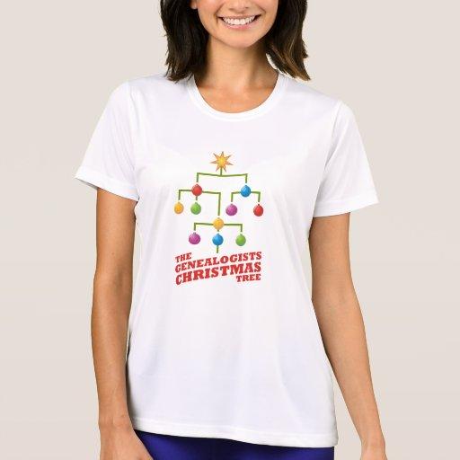 El árbol de navidad de los Genealogists Camiseta