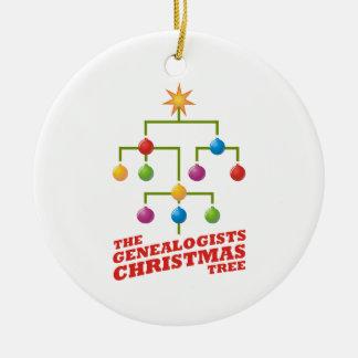 El árbol de navidad de los Genealogists Ornamento De Navidad
