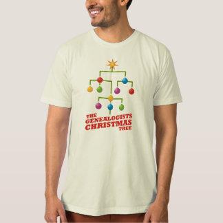 El árbol de navidad de los Genealogists Playera