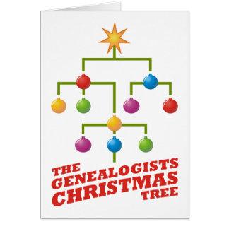 El árbol de navidad de los Genealogists Tarjeta De Felicitación