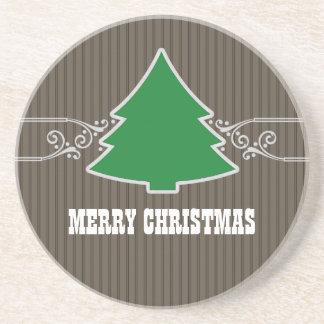 El árbol de navidad de lujo remolina práctico de c posavasos para bebidas