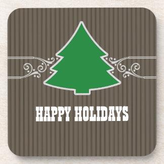 El árbol de navidad de lujo remolina sistema del p posavasos de bebidas