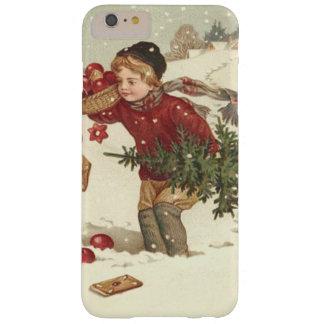 El árbol de navidad del muchacho presenta nieve de funda barely there iPhone 6 plus