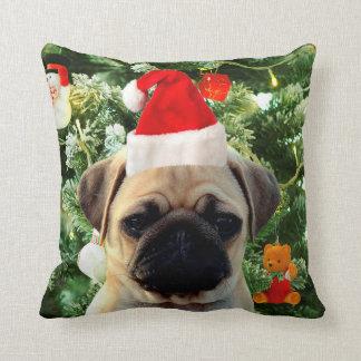 El árbol de navidad del perro de perrito del barro cojín