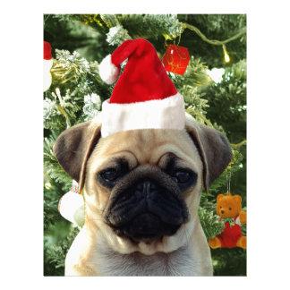El árbol de navidad del perro de perrito del barro membrete