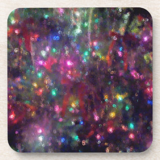 El árbol de navidad enciende el práctico de costa posavasos de bebidas