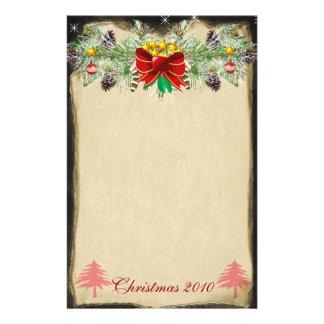 El árbol de navidad rojo protagoniza la guirnalda papelería personalizada