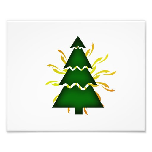 El árbol de navidad seccional con amarillo agita d fotografía