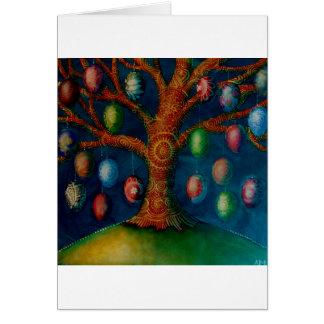 El árbol de Pascua Tarjeta De Felicitación