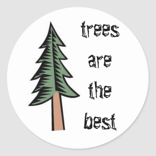 el árbol de pino, árboles es el mejor pegatina redonda