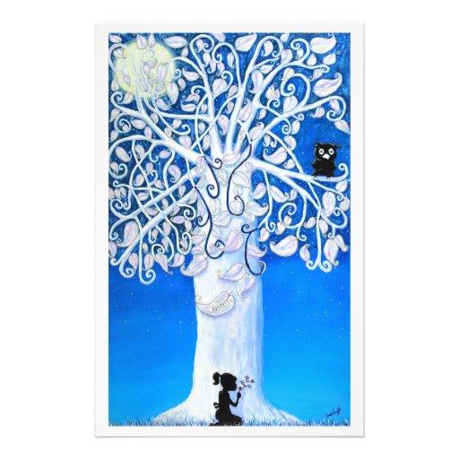 El árbol de sueño papelería de diseño