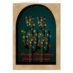 El árbol del cactus de navidad de Arizona Adobe en Felicitaciones
