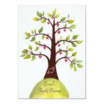 El árbol del corazón de la acuarela de la reunión comunicado