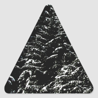 El árbol del día de fiesta de las Felices Navidad Calcomanía De Triangulo Personalizadas