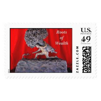 El árbol del dinero sello postal