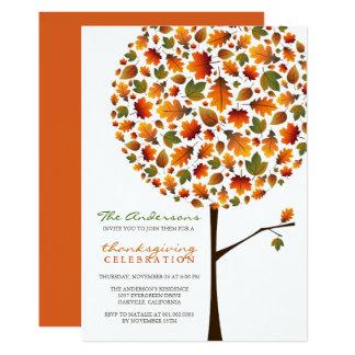 """El árbol del estallido de las hojas de la caída invitación 5"""" x 7"""""""